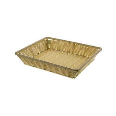 Basket Leone, Polypropylene, Natural Color, 1 pc, 32.5x26x6cm