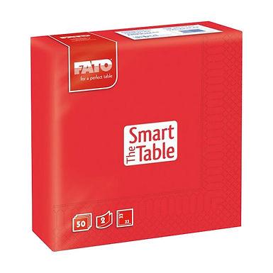 Napkin Fato Smart Table, Red, 2 ply, 50pcs., 33x33cm