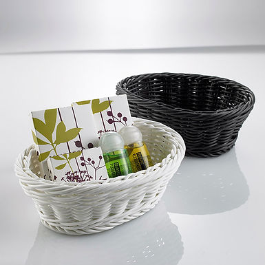 Oval Basket for Amenities Leone, White, 16x13x6cm