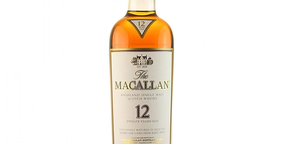 Macallan 12 Years Old Scotch Whisky, 700ml