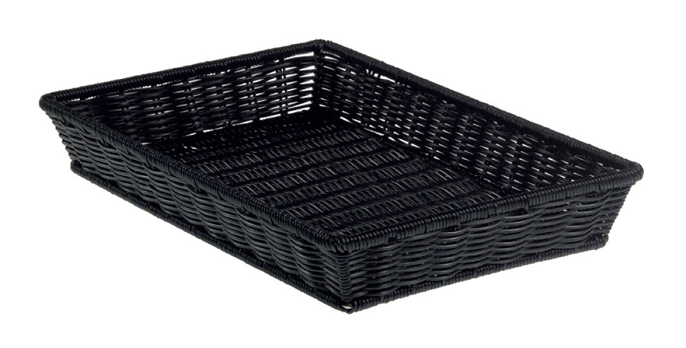 Basket Leone, Polypropylene, Black, 1 pc, 52.5x32.5x8cm