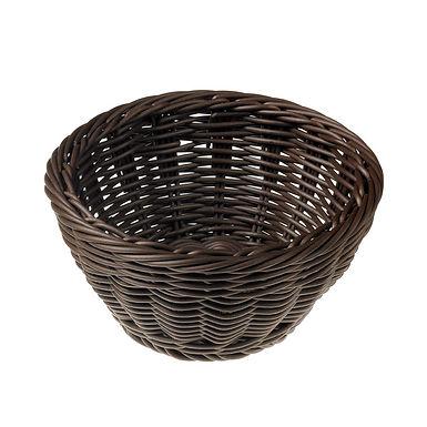 Round Basket Leone Vanity, Polypropylene, Brown, 1 pc, 18x9cm