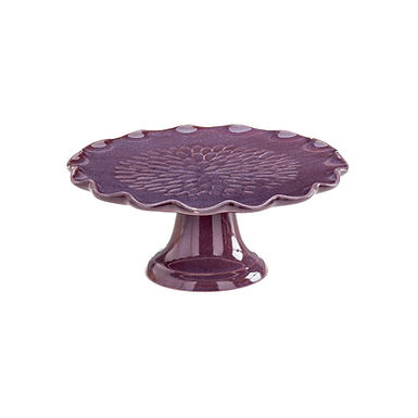 Cake Stand Leone Dali, Stoneware, Purple, 1 pc, Ø18.5x8cm