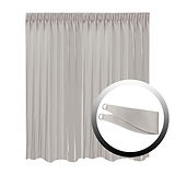 Blackout Curtain with 1 Tie, Light Gray, 295x250cm