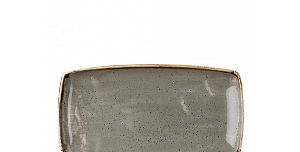 Oblong Flat Plate Churchill Stonecast, Rectangle, Peppercorn Gray