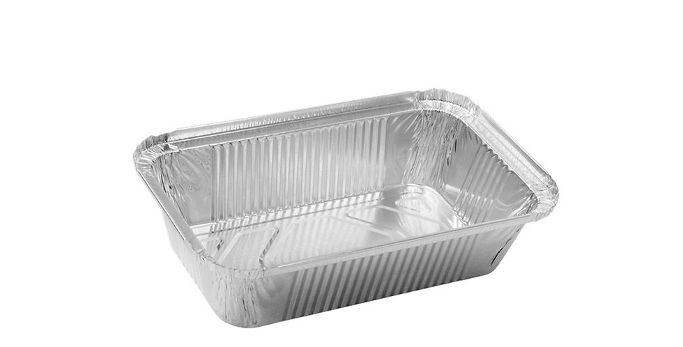 Aluminum Container for Takeaway/Delivery, 200x145x45mm, 675ml