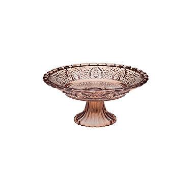 Cakestand Leone Amber, Glass, 1 pc, Ø12.7x8cm