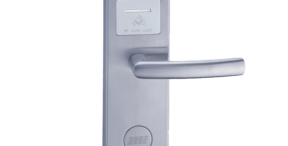 Electronic Hotel Lock, RF Card Compatible, Silver Color, Contactless