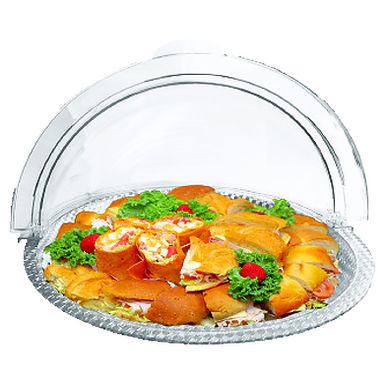 Buffet Tray, Round, Plexiglass, Transparent, Ø40cm