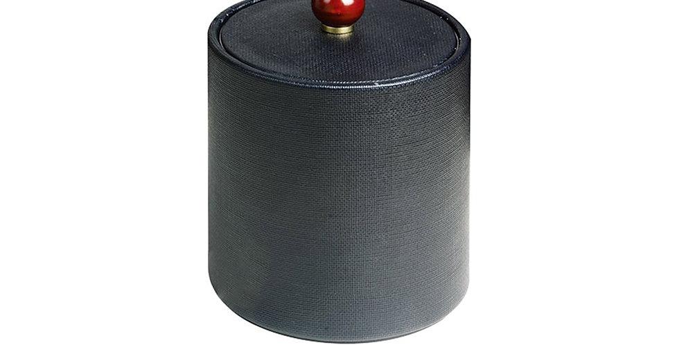 Ice Box, Black, Synthetic Leather, Ø14.5x20cm