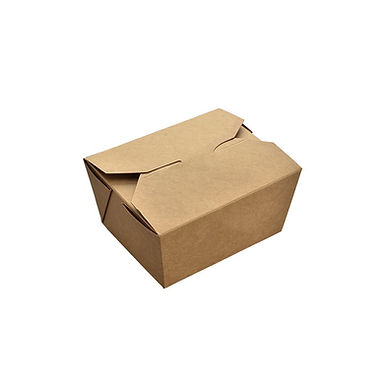 Disposable Food Box, Kraft Paper, 13x10.6x6.5cm