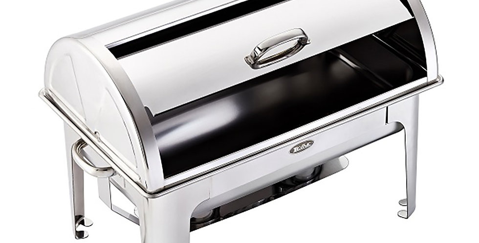 Rectangular Roll Top Chafing Dish Leone Mars, SS 18/10, 1 pc, 61x36x43cm