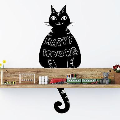 Cat Chalkboard WALPLUS, Sticker, 26x58cm