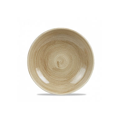 Deep Plate Churchill Stonecast Patina, Round, Antique Taupe