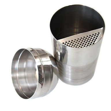 Shaker with Filter, Inox, 2 Parts, 600ml
