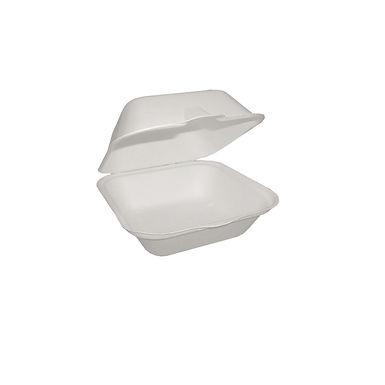Small Hamburger Box, Biodegradable, 12x12x6.8cm