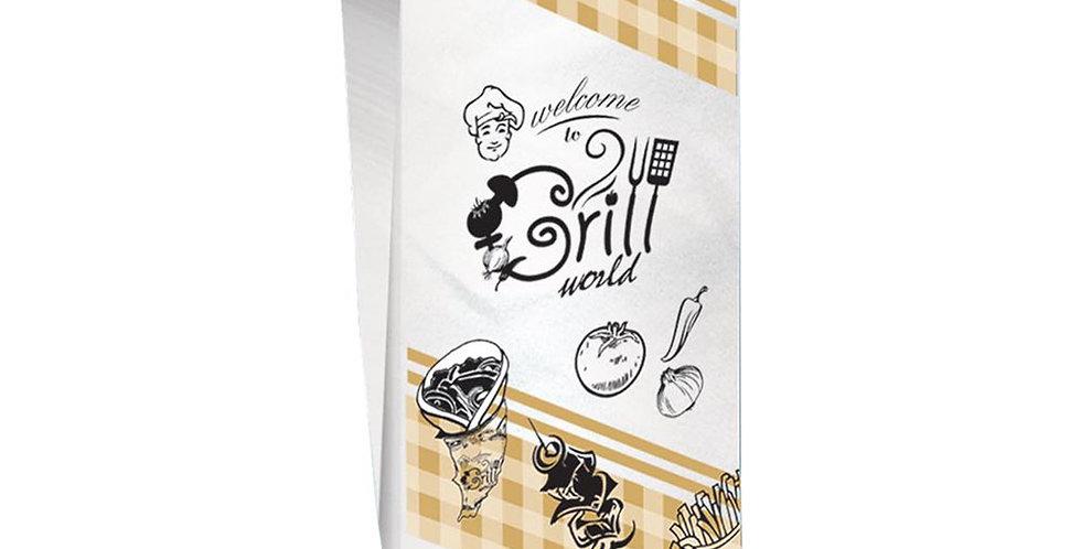 Pouch Bag, Grill Design, 10x28cm, 1kg