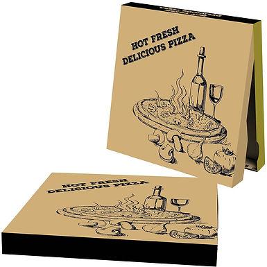 Pizza Box, Cardboard, Delicious, 7 Sizes, 4.2cm