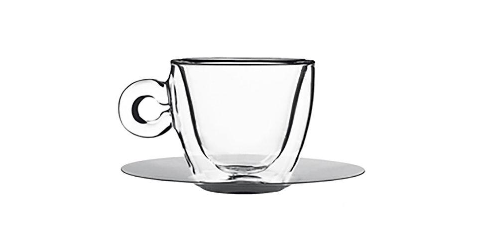 Cappucino Cup with Saucer Luigi Bormioli Drink&Design, 165ml