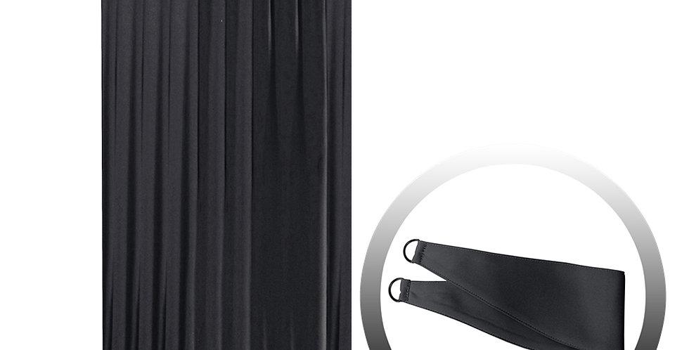 Blackout Curtain with 1 Tie, Black, 144x250cm