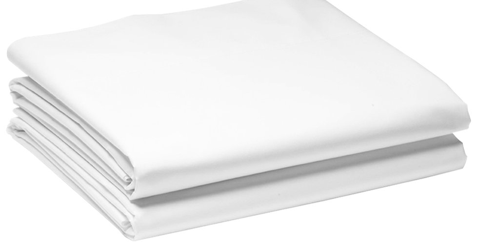 Double Bed Sheet, White, 100% Cotton, 240x260cm
