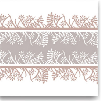 Napkin Fato Airlaid, Fabric Texture, Coffee Garden Design, 50pcs., 40x40cm