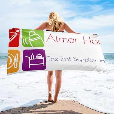 Beach Towel with Personalized Print, 52% Cotton, 76x152cm