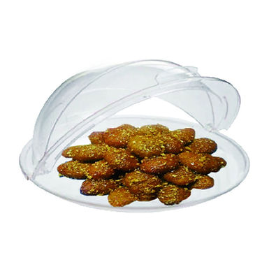 Buffet Tray, Round, Polycarbonate, Transparent, Ø40cm