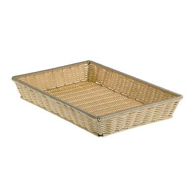 Basket Leone, Polypropylene, Natural Color, 1 pc, 41.5x28x8cm
