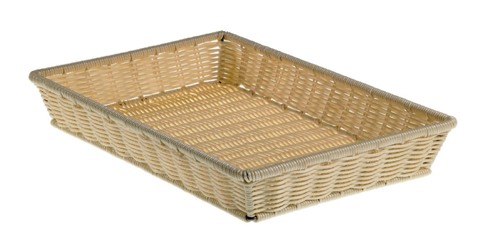 Basket Leone, Polypropylene, Natural Color, 1 pc, 52.5x32.5x8cm