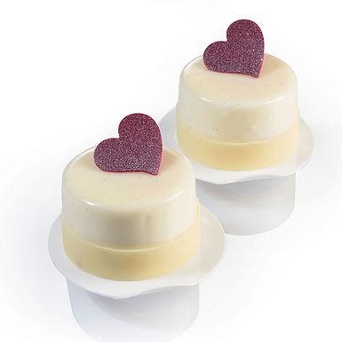 Hearts Chocolate Decoration Mold Martellato Chablon, Silicone, 8+8+12 pcs
