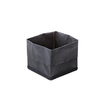 Bread Basket Leone, Paper, Black, 1 pc, 12x12x16cm