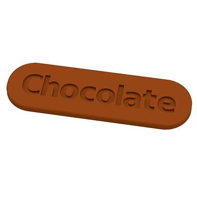Chocolate Mold Martellato Choco Tag, Thermoformed Plastic, 12 pcs, 75x23x3mm
