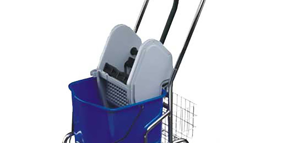Mopping Trolley, with Press, 1 Bucket of 25 Liters