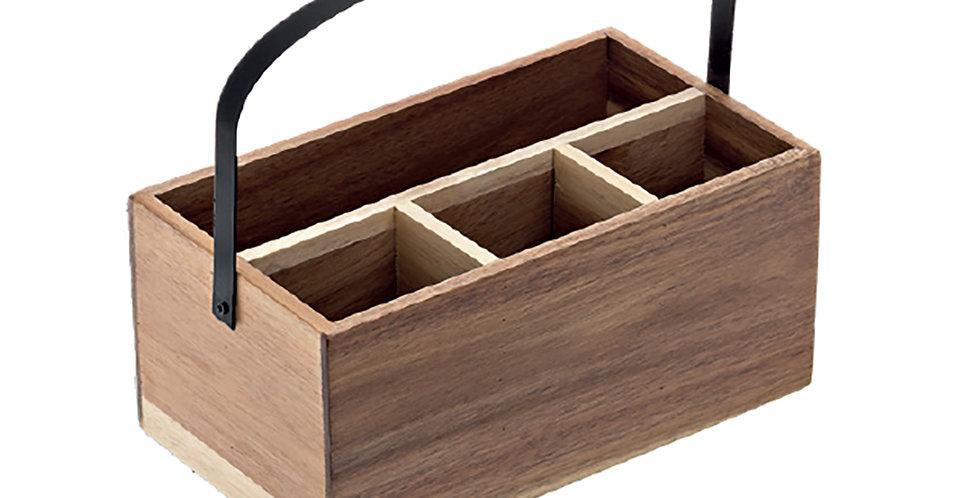 Box with Handle Leone, Acacia, 1 pc, 26x15x11.7cm
