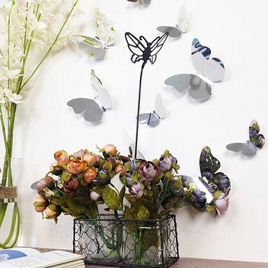 Butterflies Mirror 3D WALPLUS, Sticker, 12pcs
