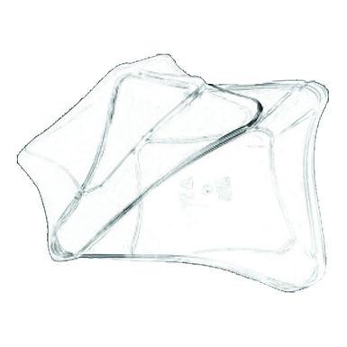 Disposable Bowl, Wavy Square, PS, Transparent, 1000ml