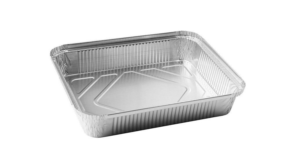Aluminum Container for Takeaway/Delivery, 225x175x35mm, 1125ml