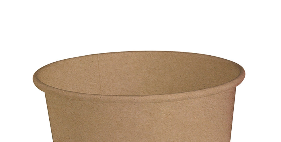 Disposable Cup First Pack, Kraft Paper, Biodegradable, Ø15x6cm, 750ml