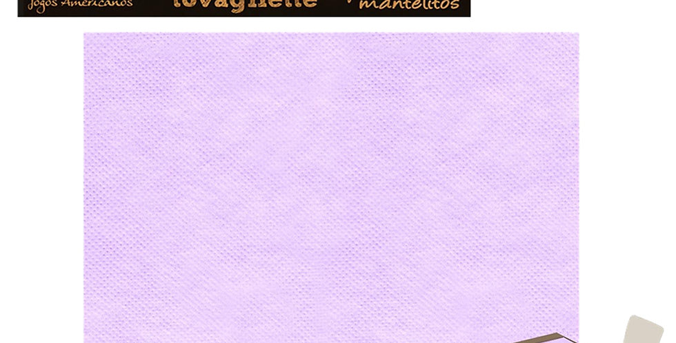 Placemat Pack Service Italia, Non Woven, Lilac, 33x45cm