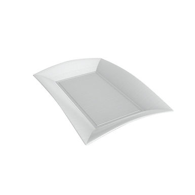 Disposable Plate Goldplast Nice, Rectangle, White, Biodegradable, 28x19cm