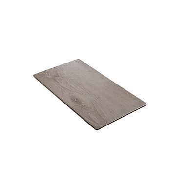 Rect. Tray Leone Wood, Easy Grip, Melamine, Grey, 1 pc, GN 1/3, 32x17x1.5cm
