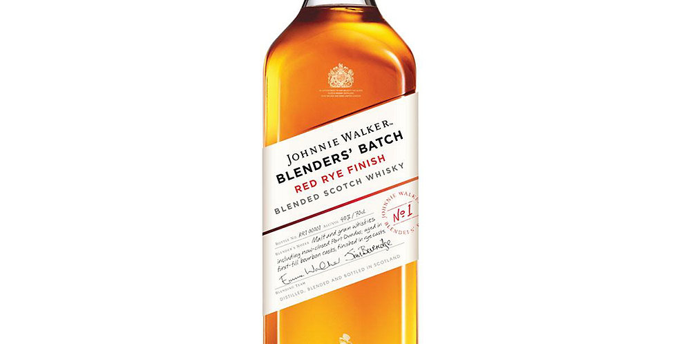 Johnnie Walker Red Rye Finish Scotch Whisky, 700ml