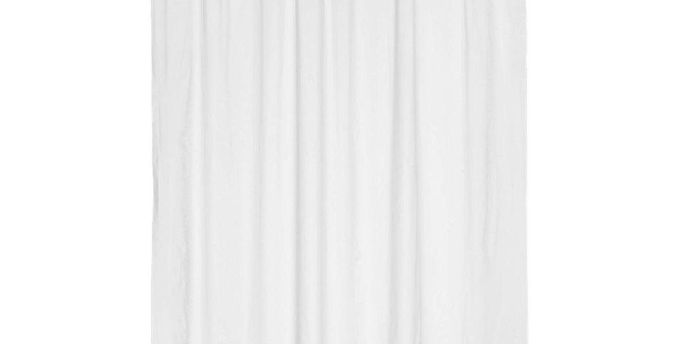Bathroom Curtain with Rings, White, Peva Plastic, 300gr, 180xH180cm