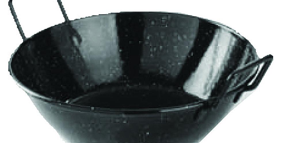 Bread Basket, Enamelled, Black, Ø24x7cm
