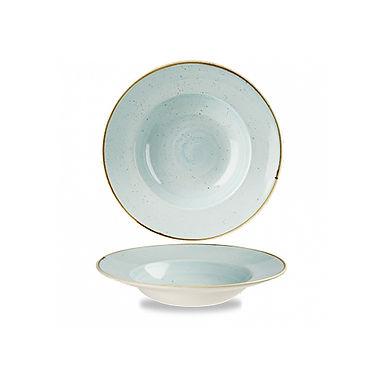 Pasta Plate Churchill Stonecast, Round, Duck Egg Blue