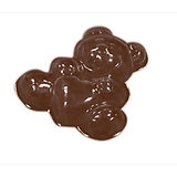 Bear with Heart Mold Martellato, Thermoformed Plastic, 14 pcs, Ø23x5mm