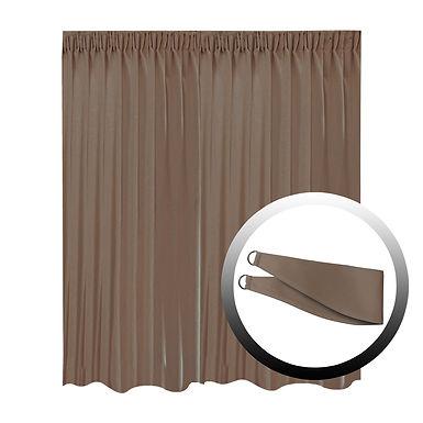 Blackout Curtain with 1 Tie, Dark Brown, 295x250cm