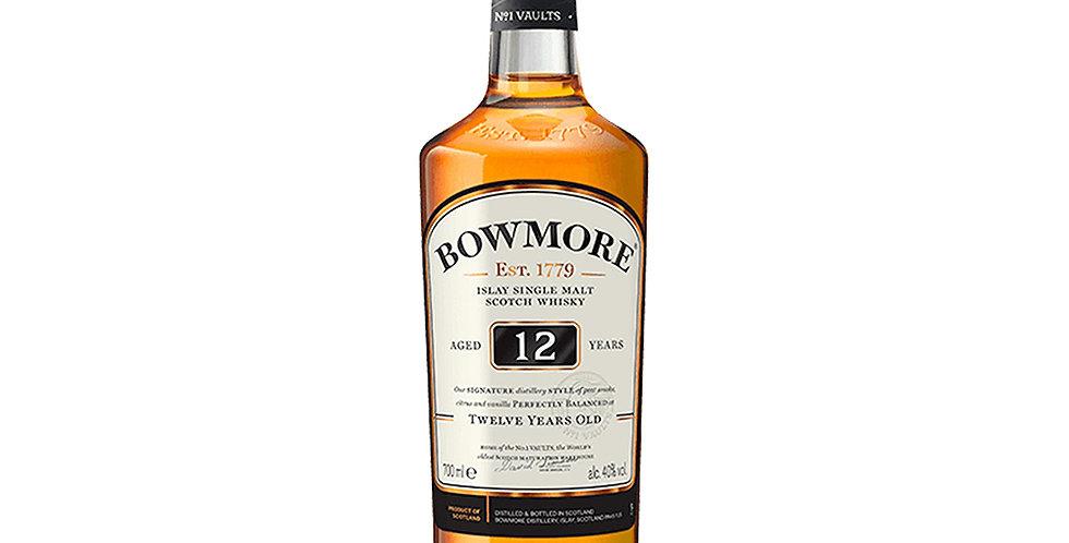 Bowmore Aged 12 Years Scotch Whisky, 700ml