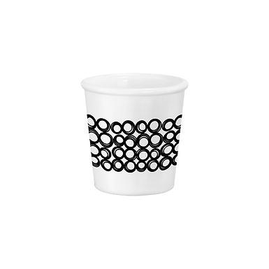 Caffeino Cup Bormioli Rocco Chiaroscuro Unico Caffeino White, Opal Glass, 95ml